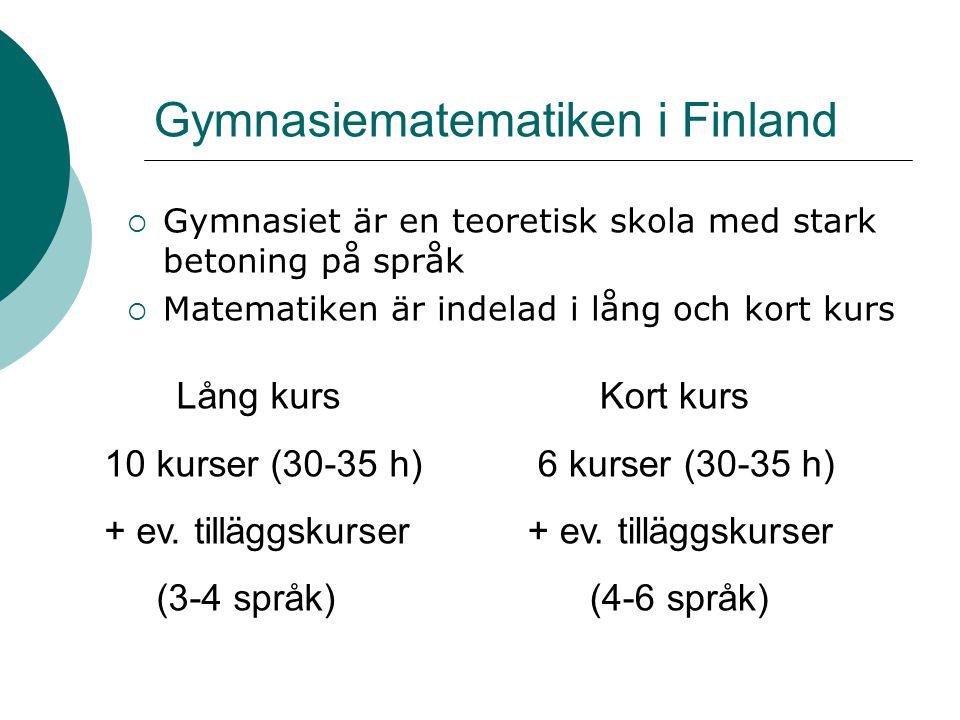Gymnasiematematiken i Finland