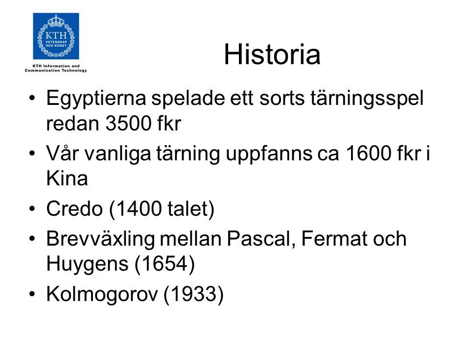 Historia Egyptierna spelade ett sorts tärningsspel redan 3500 fkr