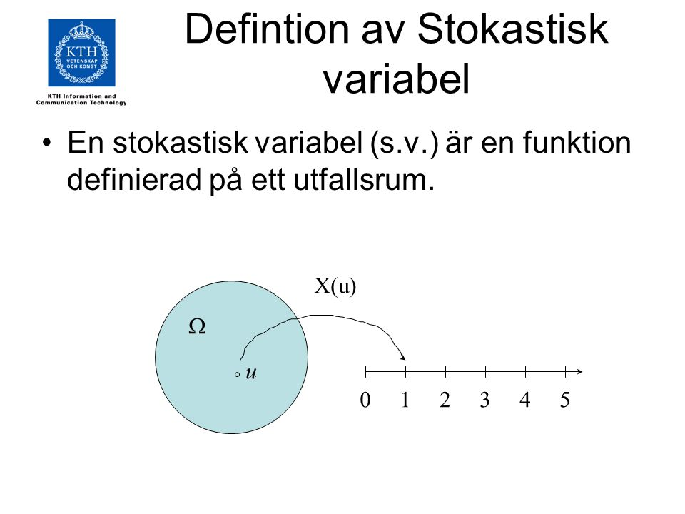 Defintion av Stokastisk variabel