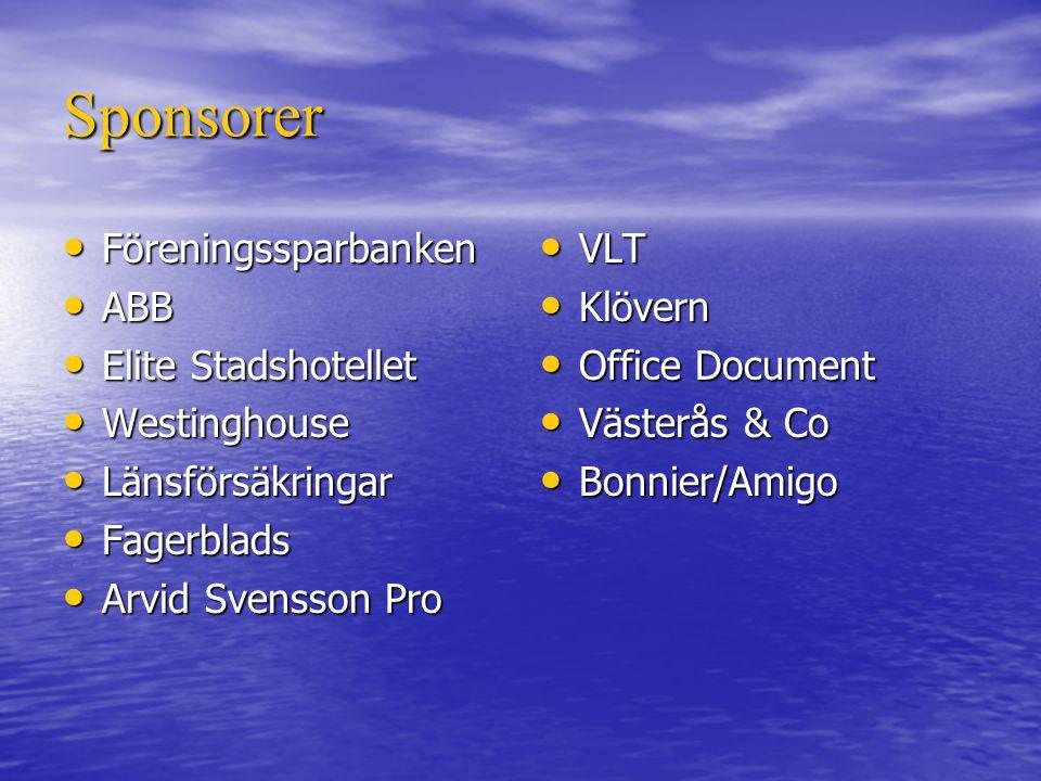 Sponsorer Föreningssparbanken ABB Elite Stadshotellet Westinghouse