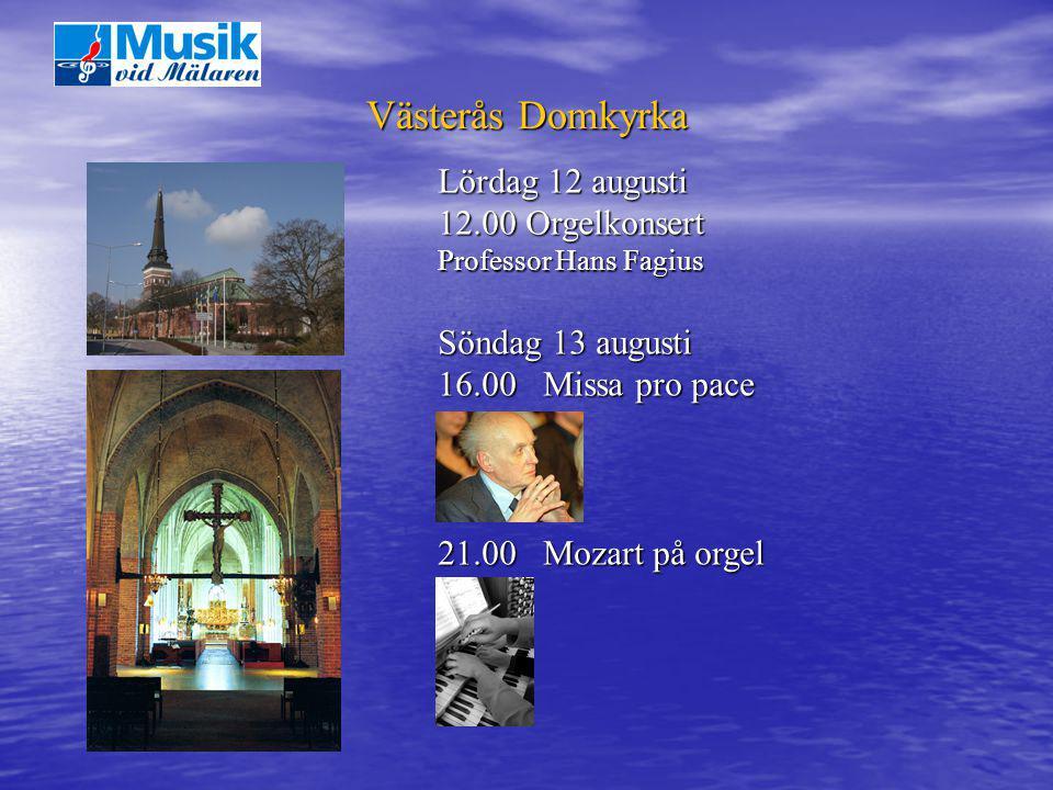 Västerås Domkyrka Lördag 12 augusti 12.00 Orgelkonsert