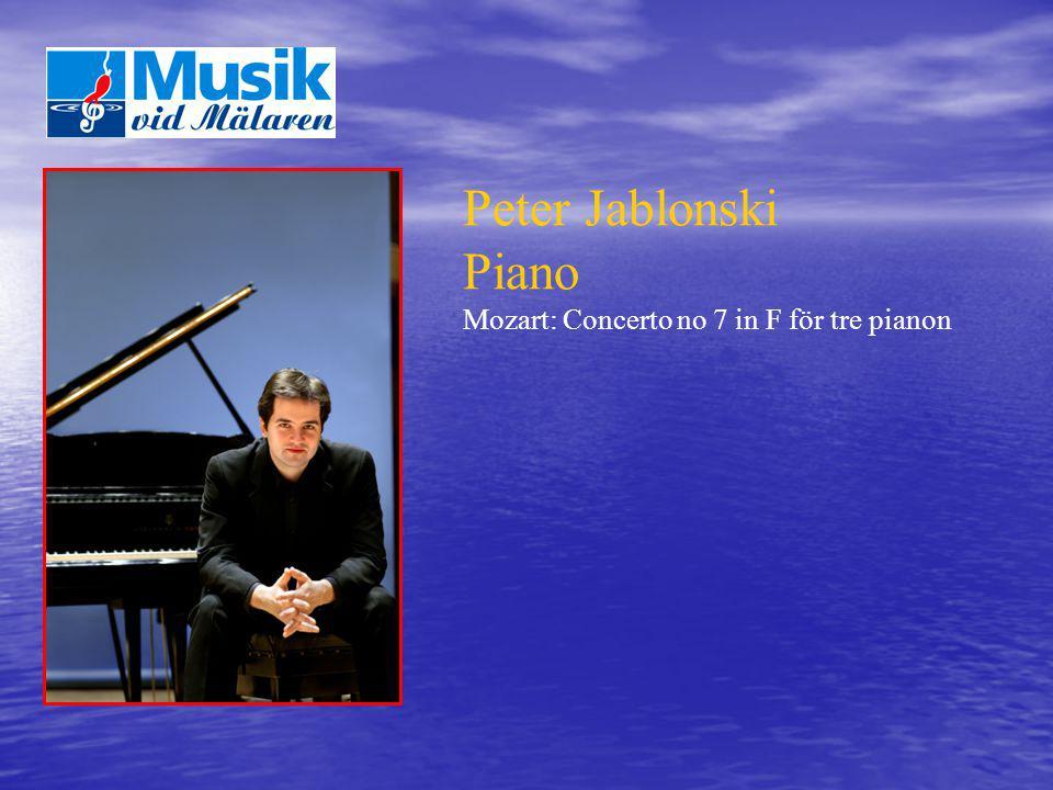 Peter Jablonski Piano Mozart: Concerto no 7 in F för tre pianon