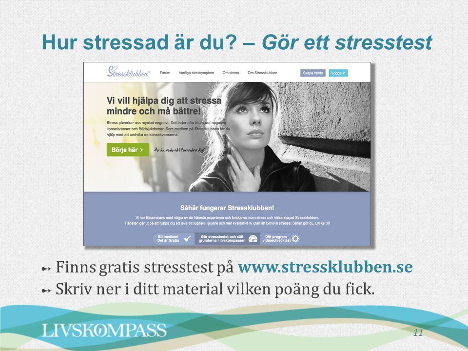 Hur stressad är du – Gör ett stresstest