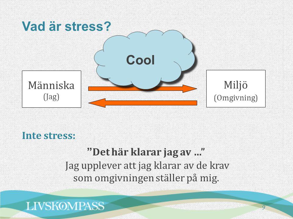 Vad är stress Cool Människa Miljö Inte stress: