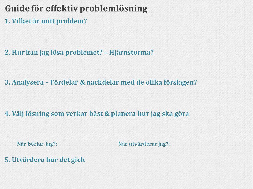 Guide för effektiv problemlösning