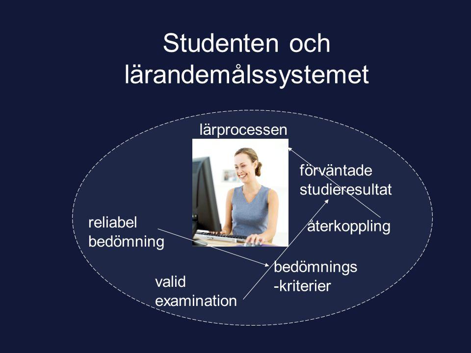Studenten och lärandemålssystemet
