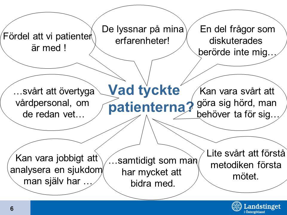 Vad tyckte patienterna