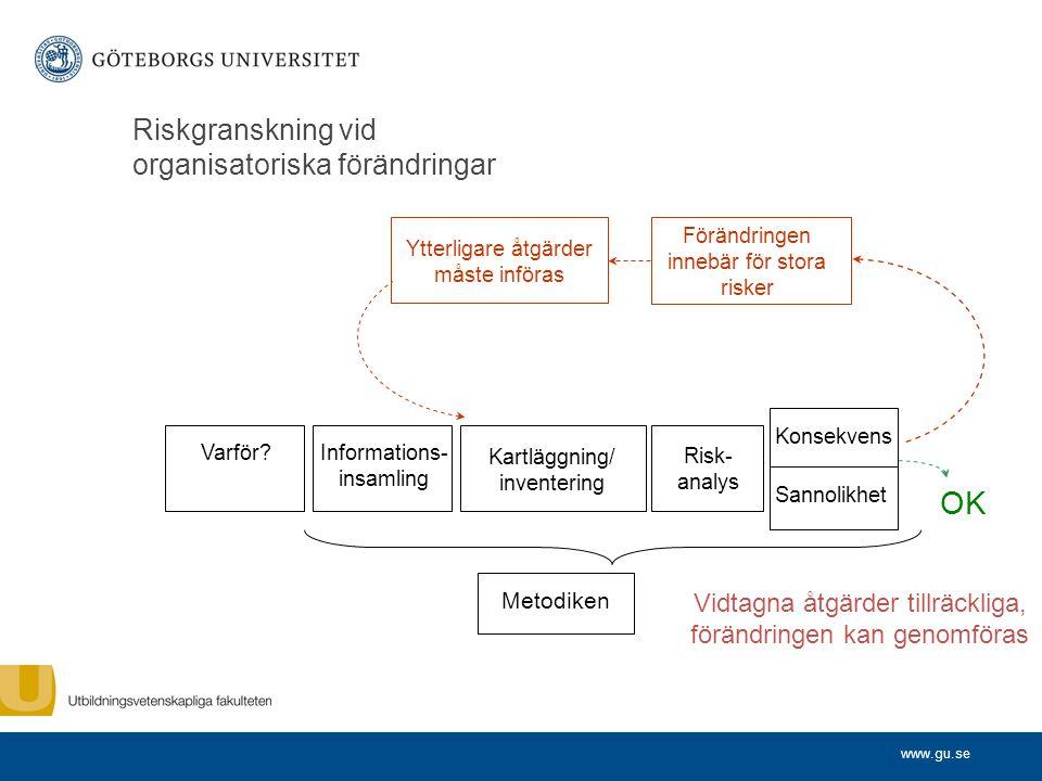 Riskgranskning vid organisatoriska förändringar
