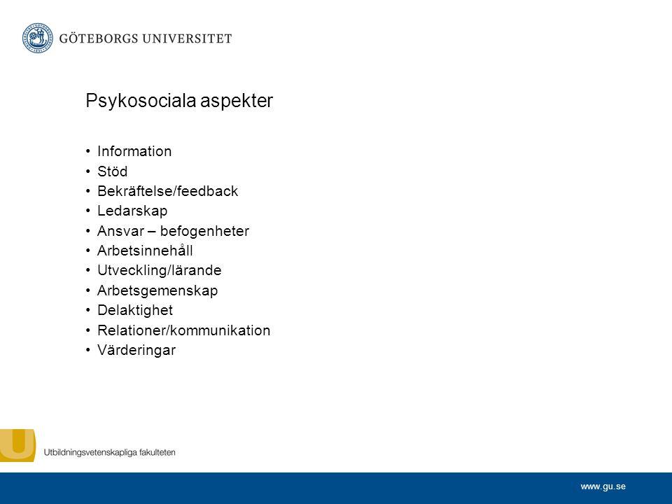 Psykosociala aspekter