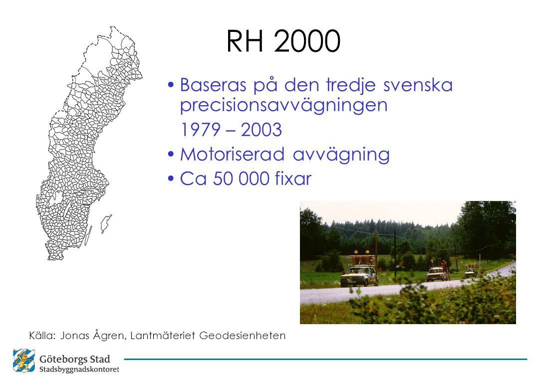 RH 2000 Baseras på den tredje svenska precisionsavvägningen