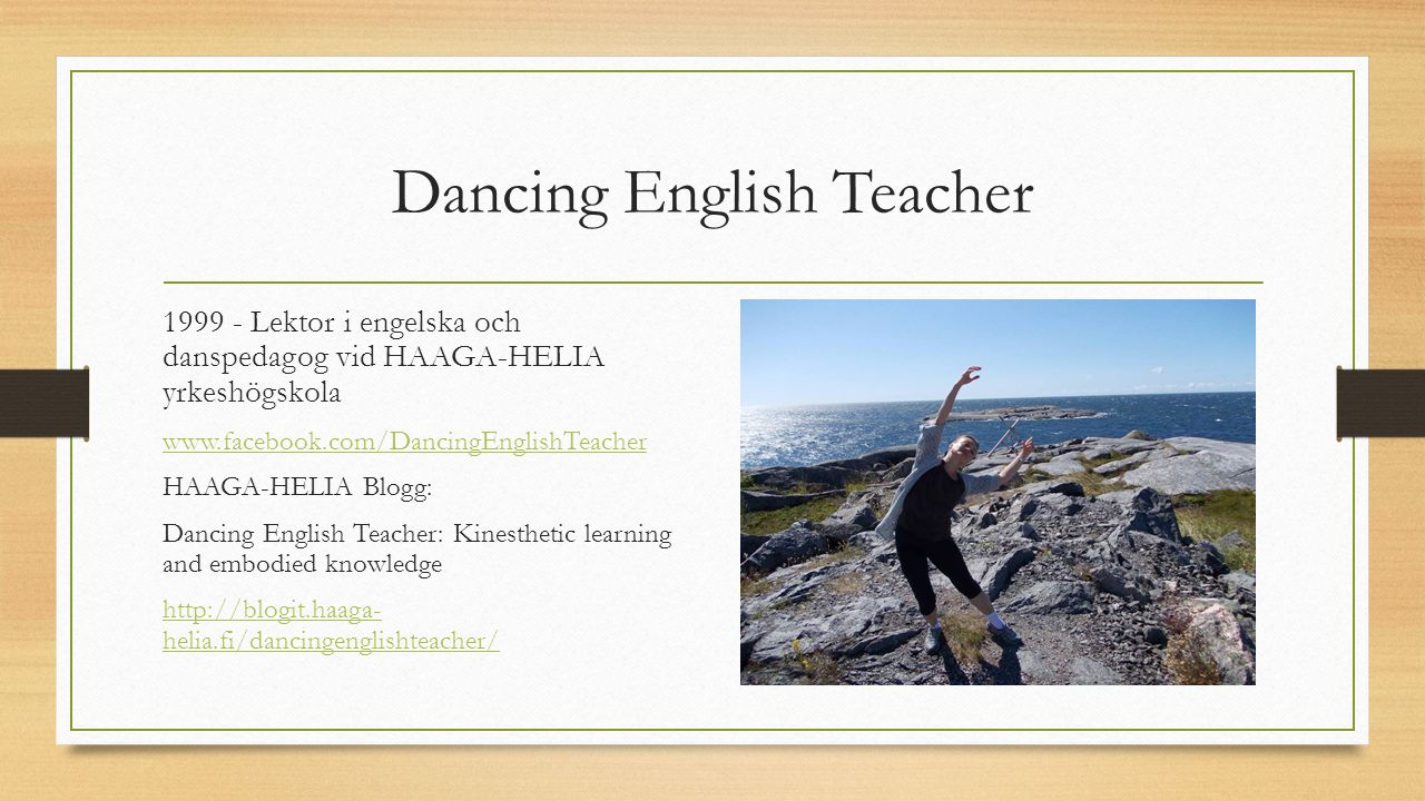 Dancing English Teacher