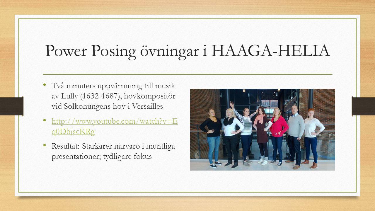 Power Posing övningar i HAAGA-HELIA