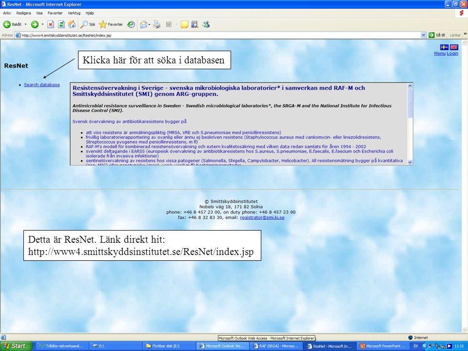 Klicka här för att söka i databasen