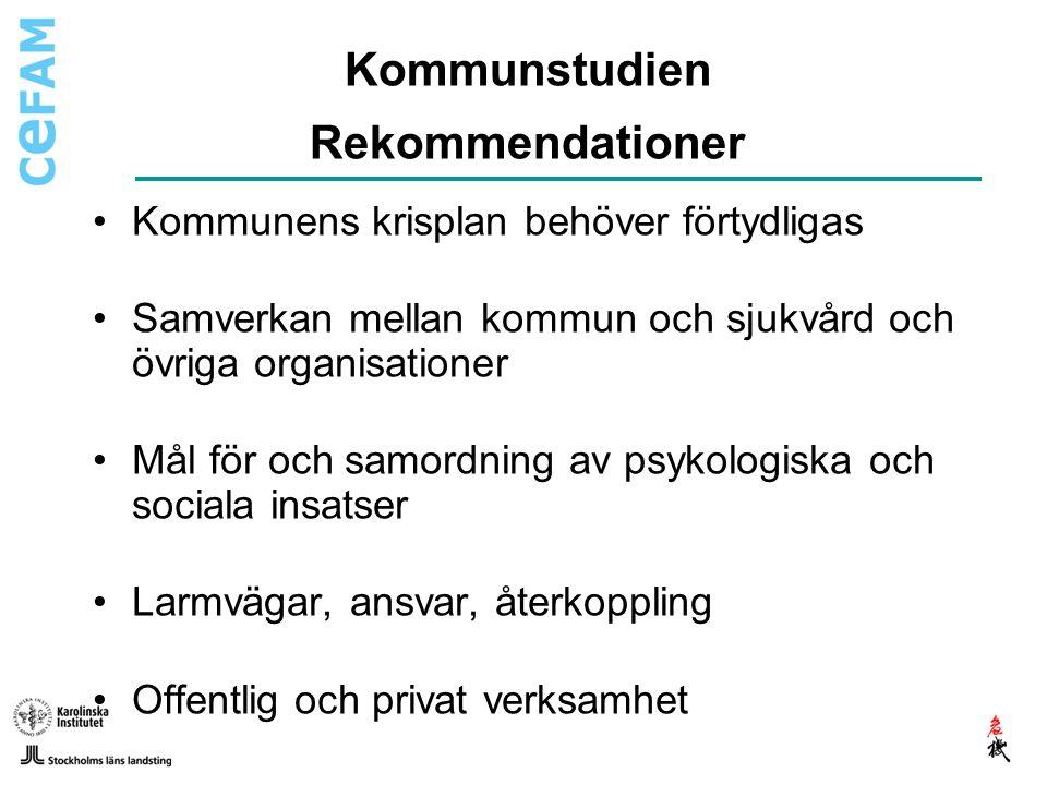 Kommunstudien Rekommendationer