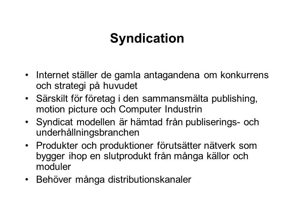 Syndication Internet ställer de gamla antagandena om konkurrens och strategi på huvudet.