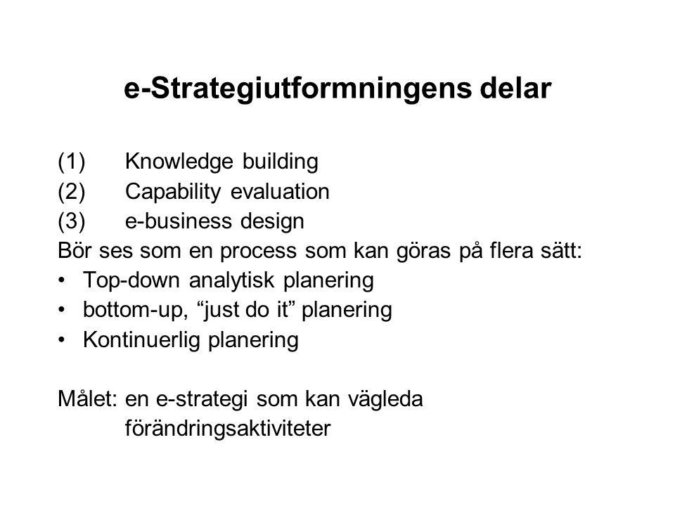 e-Strategiutformningens delar