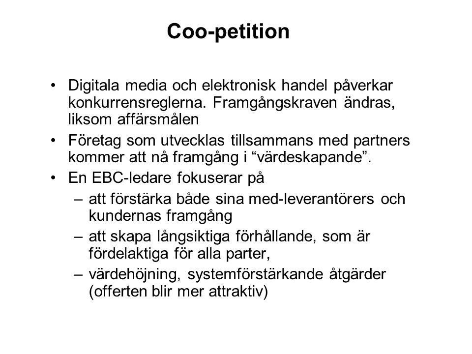Coo-petition Digitala media och elektronisk handel påverkar konkurrensreglerna. Framgångskraven ändras, liksom affärsmålen.