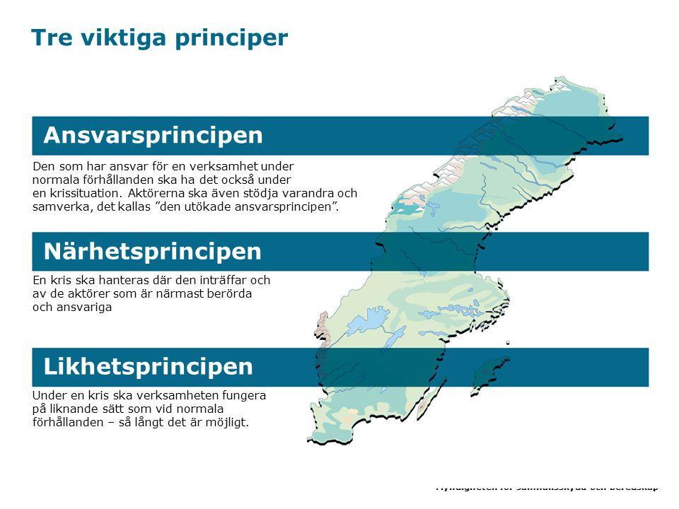 Tre viktiga principer Ansvarsprincipen Närhetsprincipen