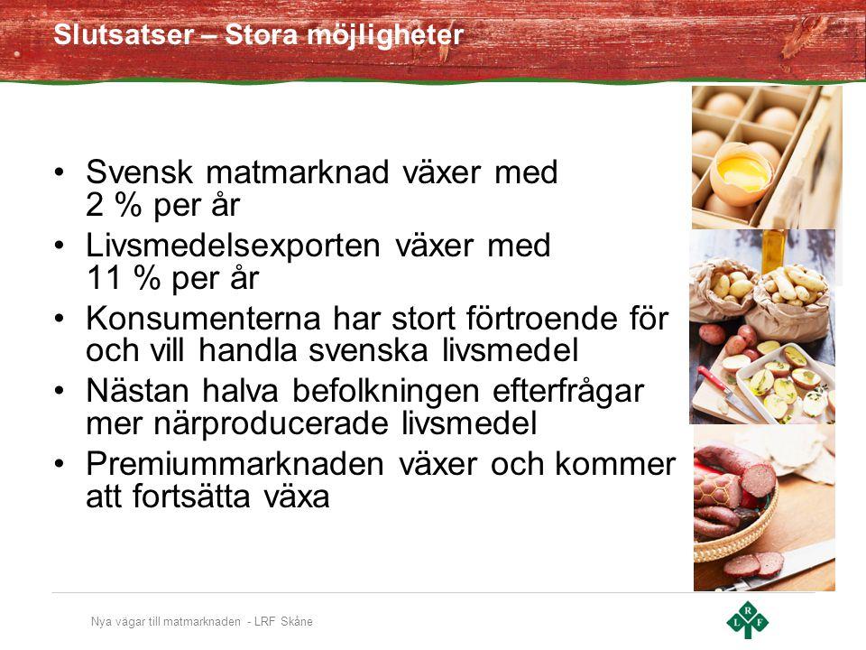 Svensk matmarknad växer med 2 % per år