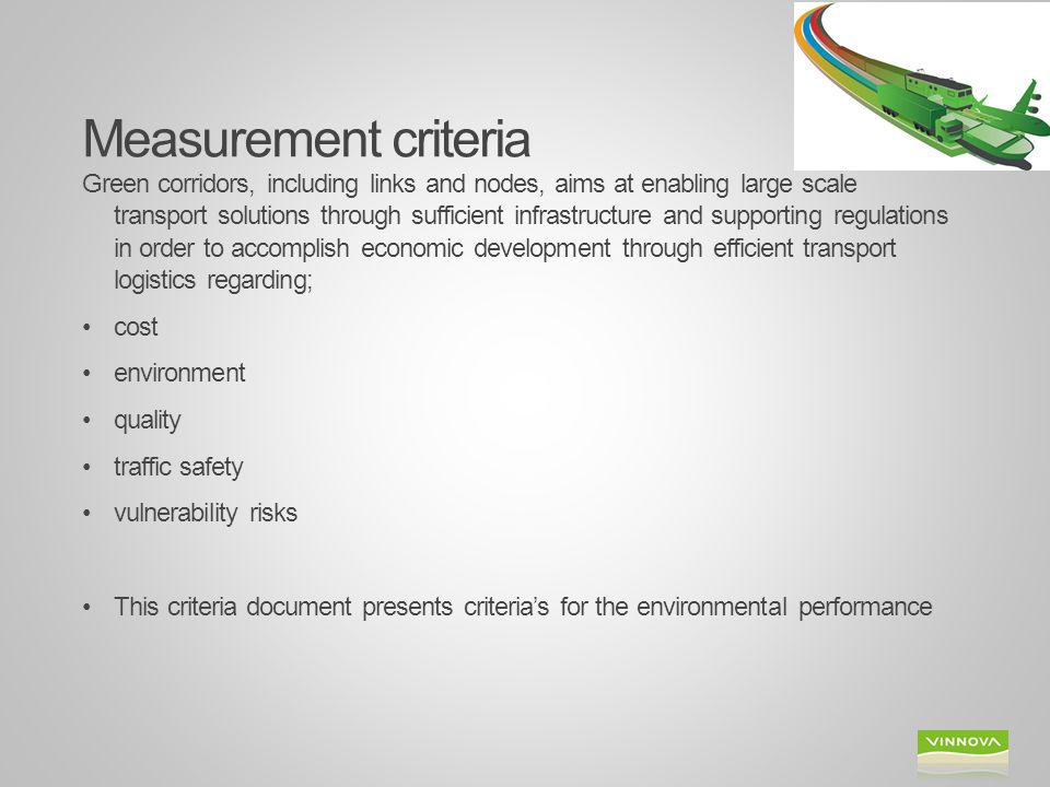 Measurement criteria
