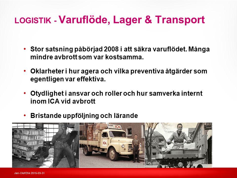 LOGISTIK - Varuflöde, Lager & Transport