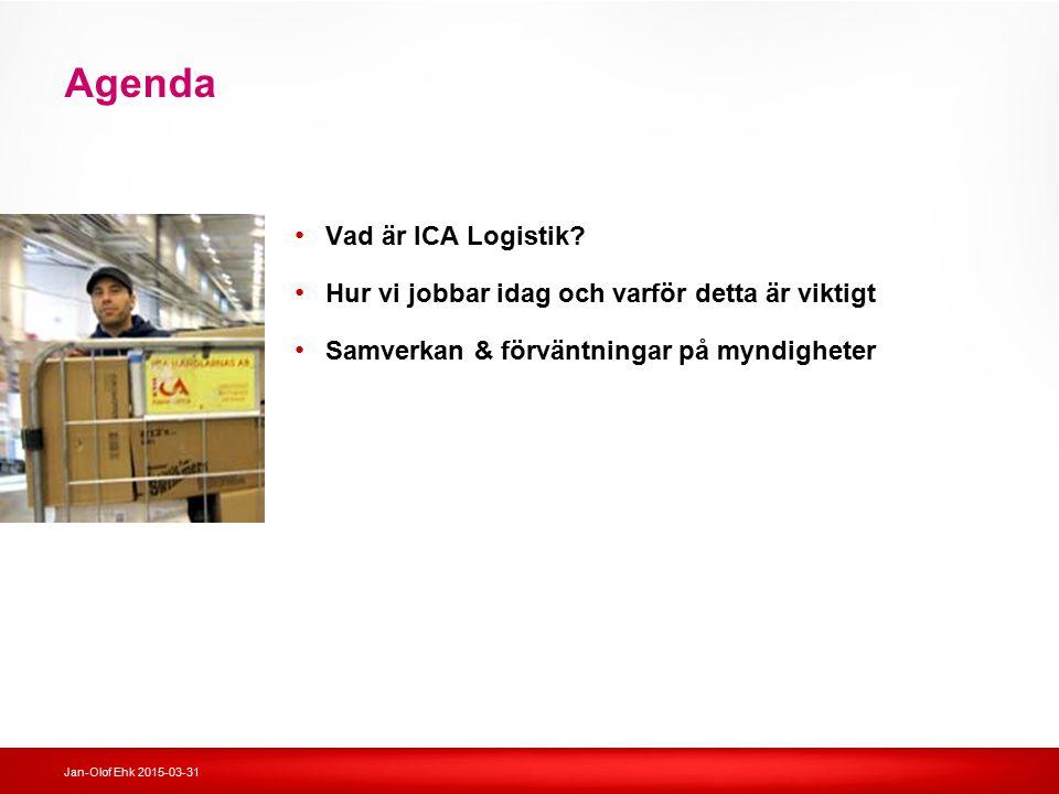 Agenda Vad är ICA Logistik
