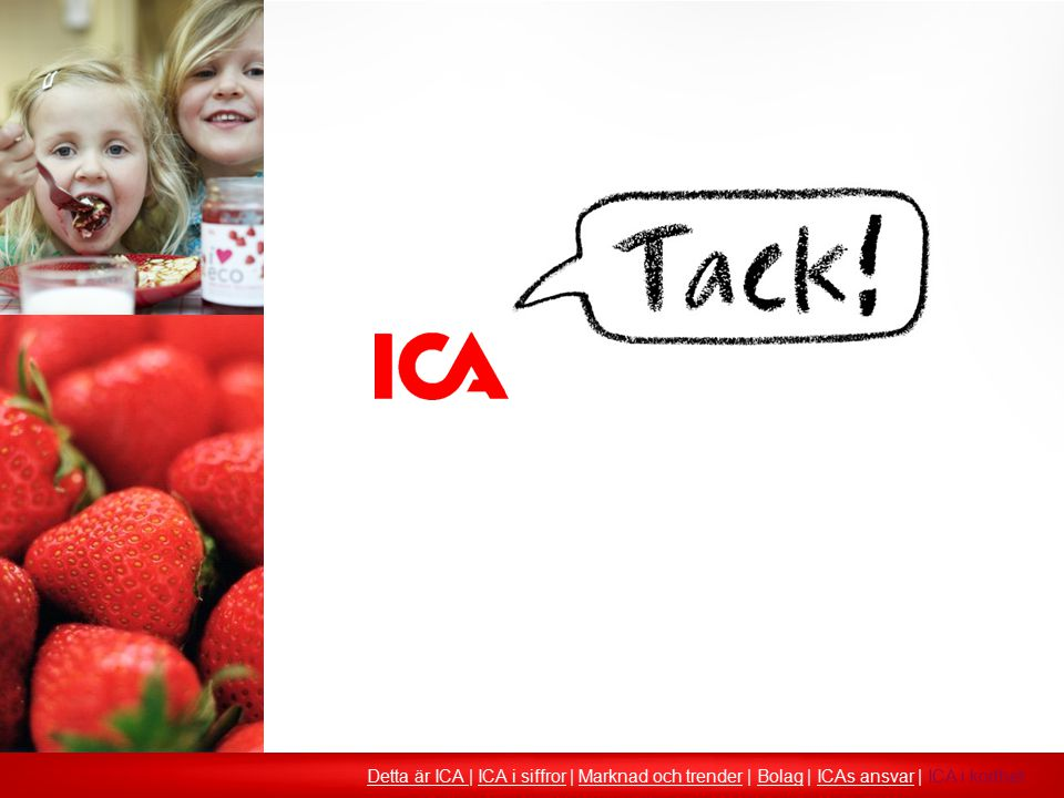 Detta är ICA | ICA i siffror | Marknad och trender | Bolag | ICAs ansvar | ICA i korthet