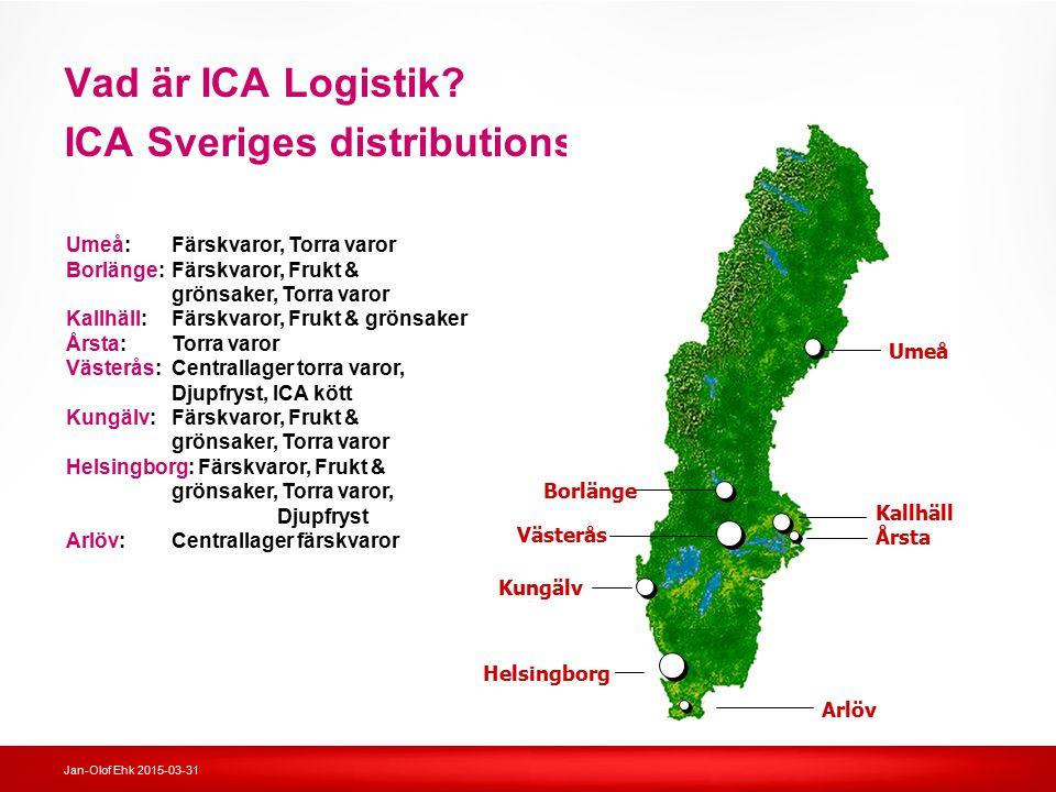 Vad är ICA Logistik ICA Sveriges distributionsenheter