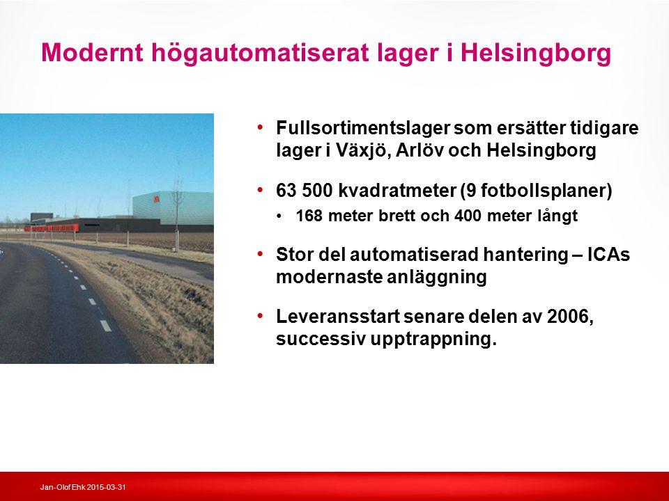 Modernt högautomatiserat lager i Helsingborg