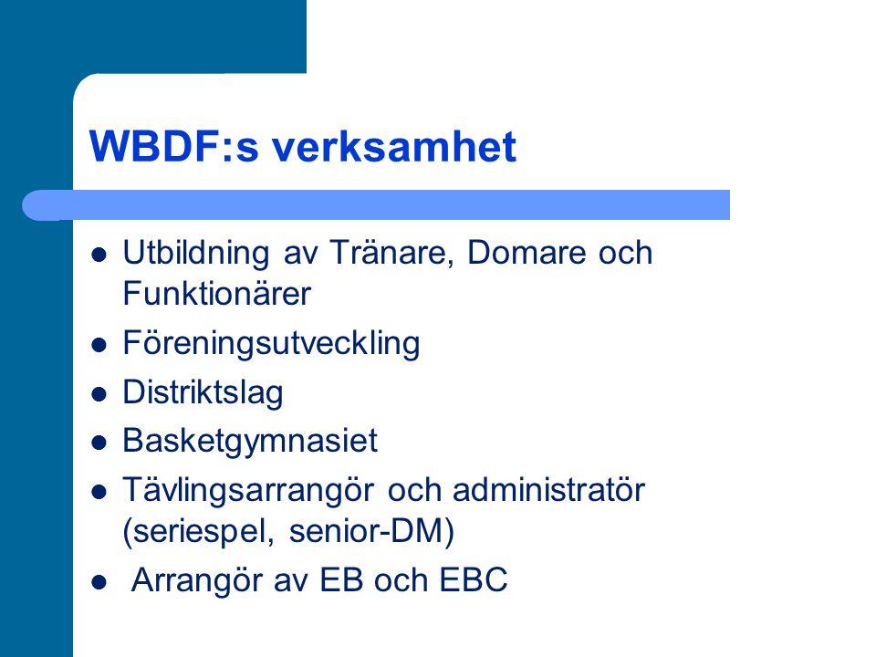 WBDF:s verksamhet Utbildning av Tränare, Domare och Funktionärer