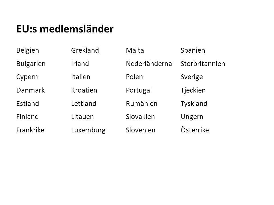 EU:s medlemsländer