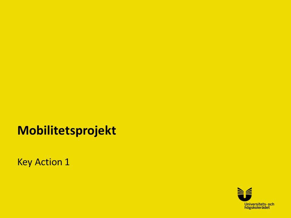 Mobilitetsprojekt Key Action 1