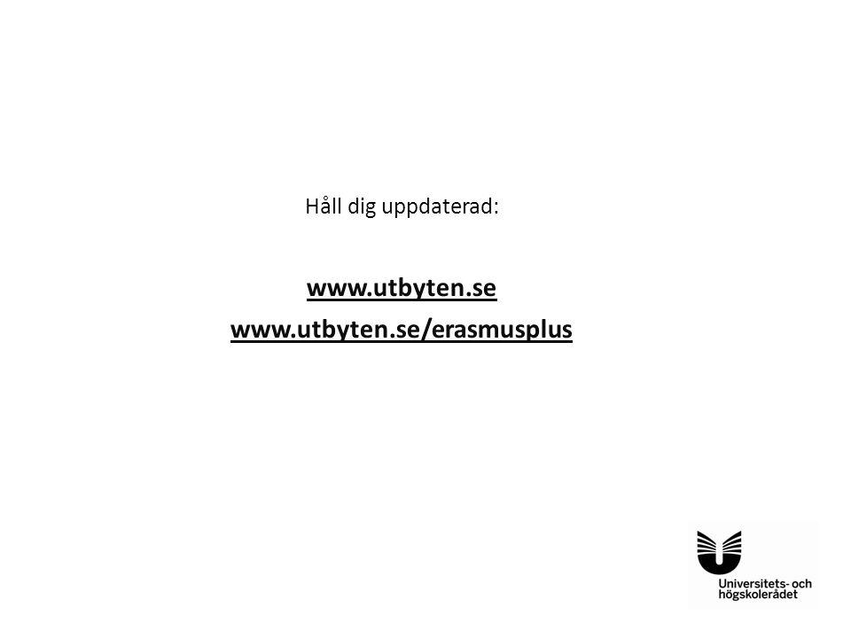 www.utbyten.se www.utbyten.se/erasmusplus