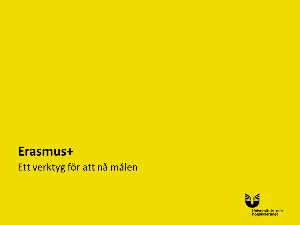Erasmus+ Ett verktyg för att nå målen