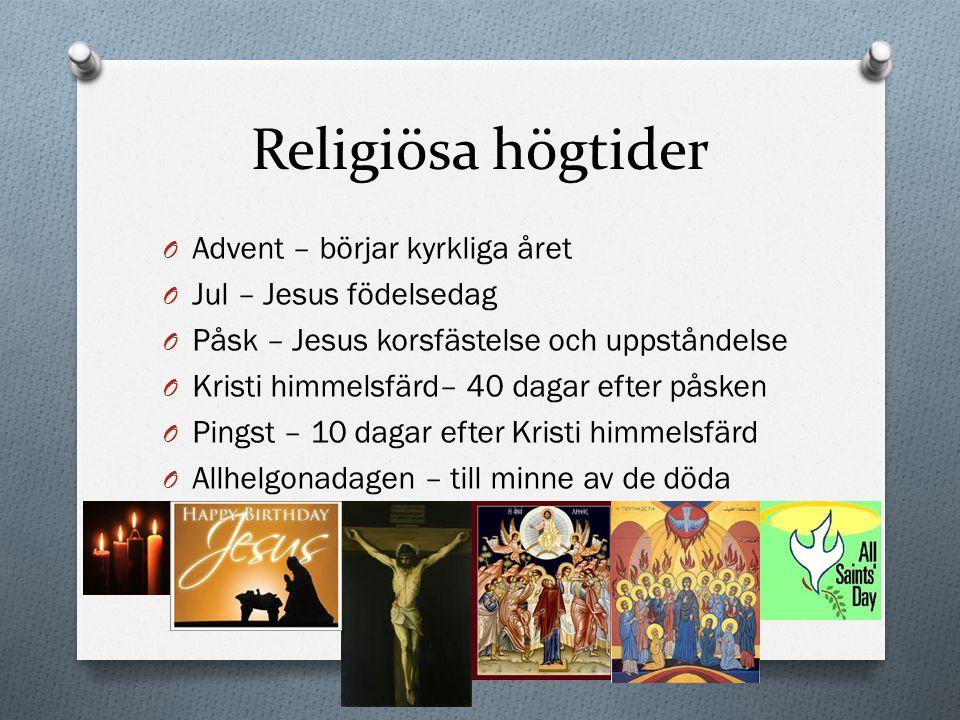 Religiösa högtider Advent – börjar kyrkliga året