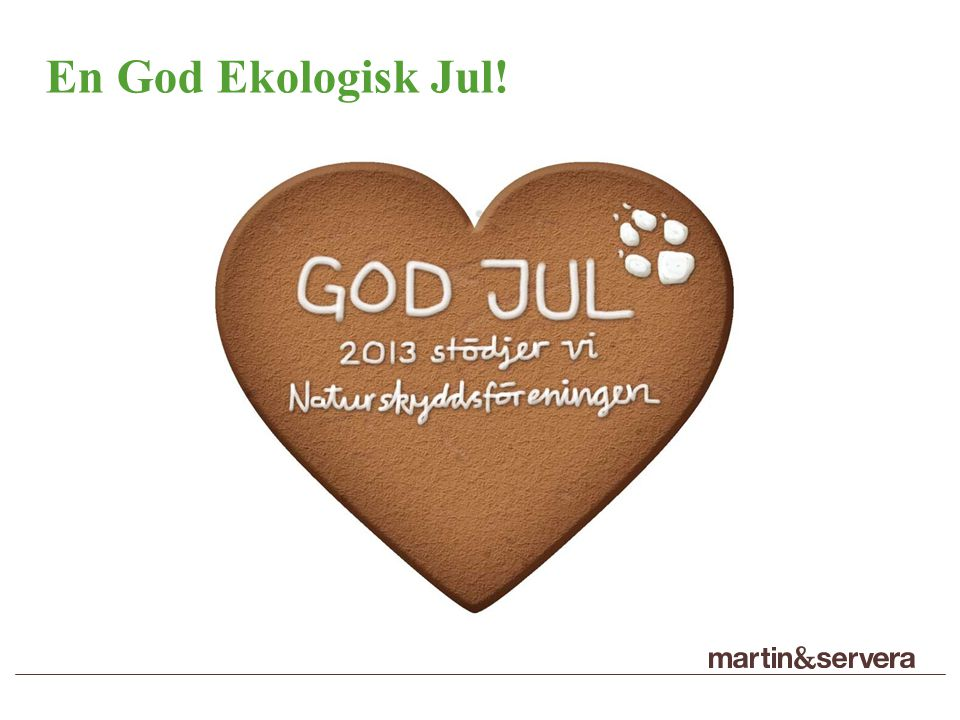 En God Ekologisk Jul!