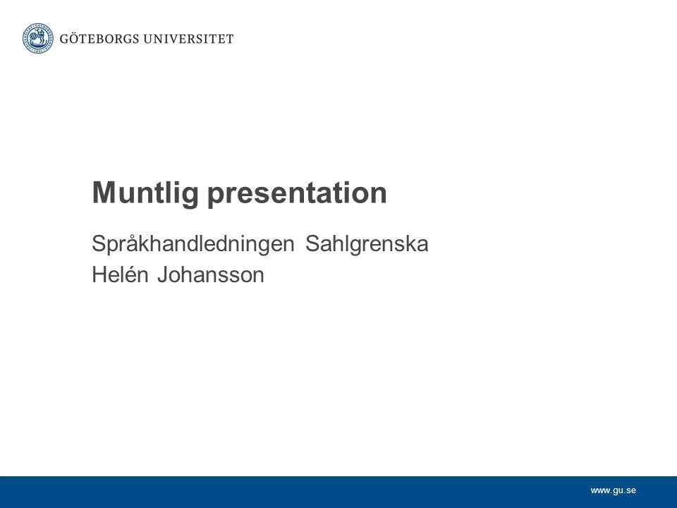 Språkhandledningen Sahlgrenska Helén Johansson