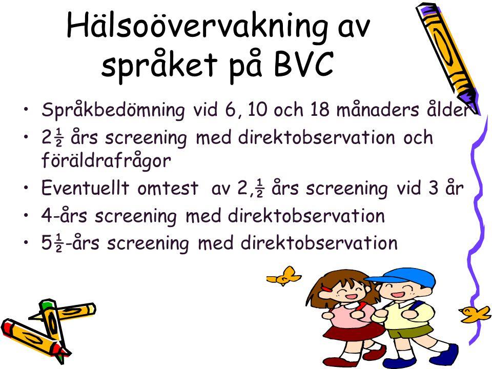 Hälsoövervakning av språket på BVC
