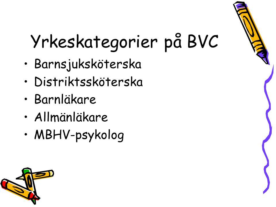Yrkeskategorier på BVC