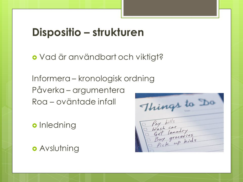 Dispositio – strukturen