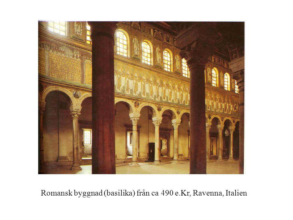 Romansk byggnad (basilika) från ca 490 e.Kr, Ravenna, Italien