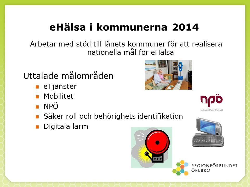 eHälsa i kommunerna 2014 Uttalade målområden