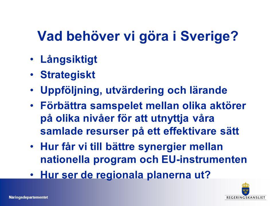 Vad behöver vi göra i Sverige