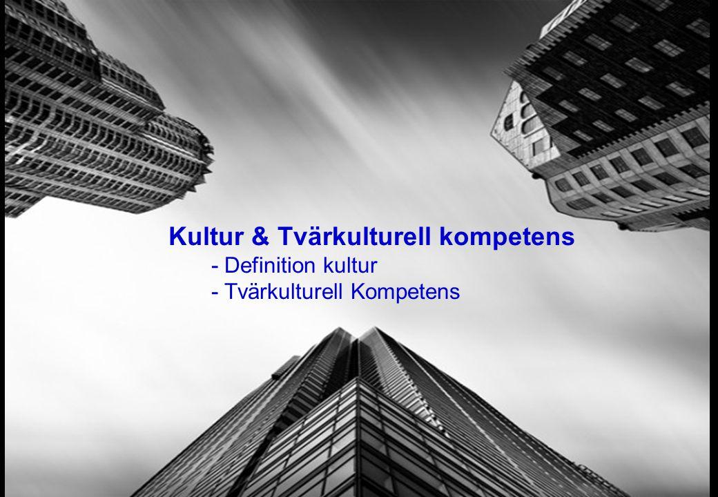 Kultur & Tvärkulturell kompetens