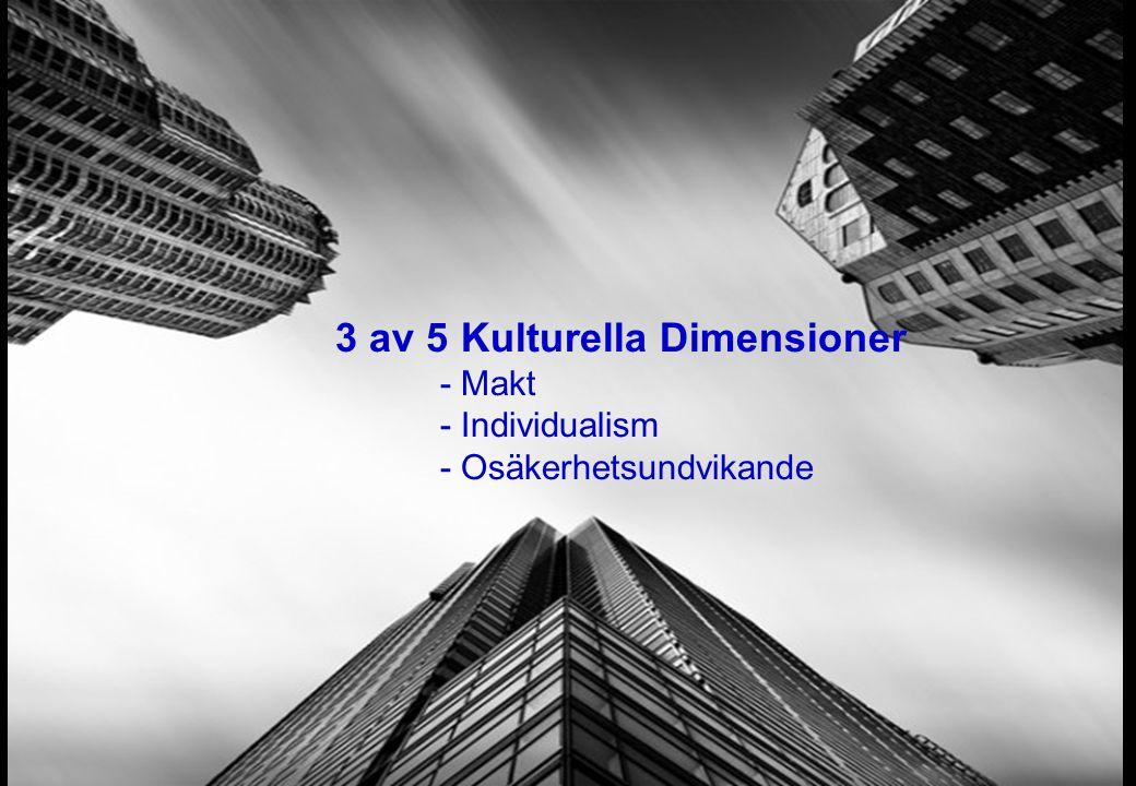 3 av 5 Kulturella Dimensioner