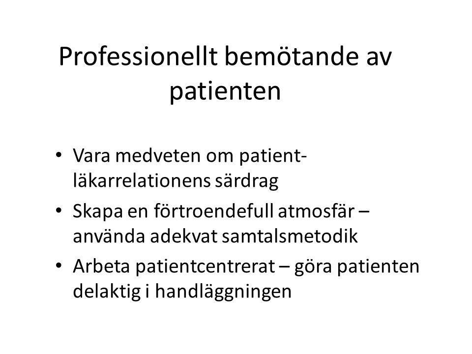 Professionellt bemötande av patienten