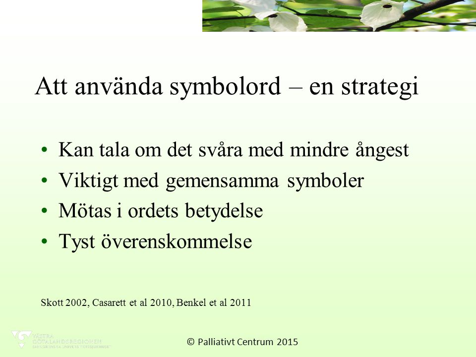 Att använda symbolord – en strategi