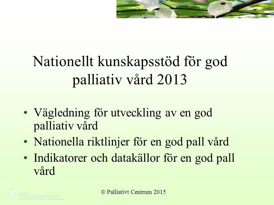 Nationellt kunskapsstöd för god palliativ vård 2013