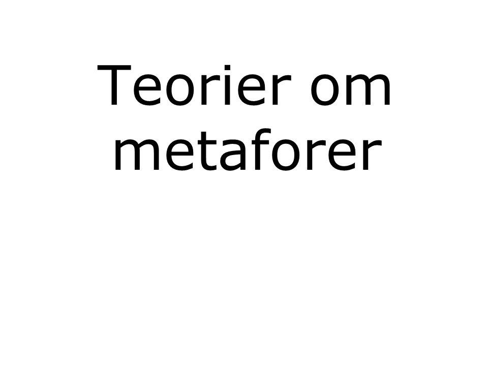 Teorier om metaforer