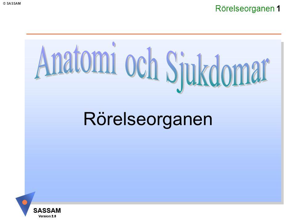 Rörelseorganen Anatomi och Sjukdomar Kommentar: